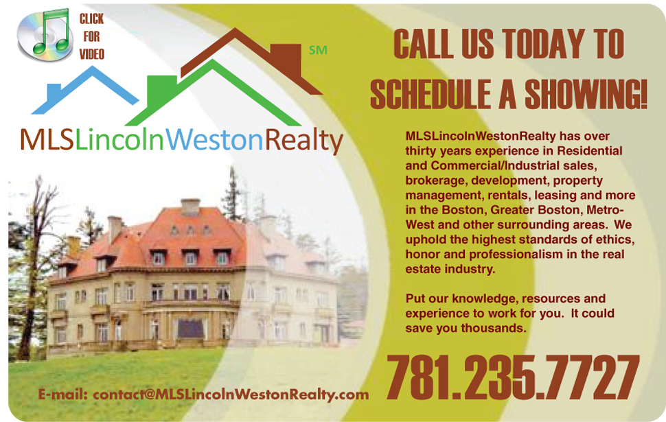 MLSLincolnWestonRealty Lincoln Weston Massachusetts Real Estate